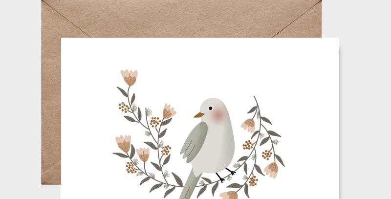 Carte postale - Postcard - La couronne de l'oiseau  / R
