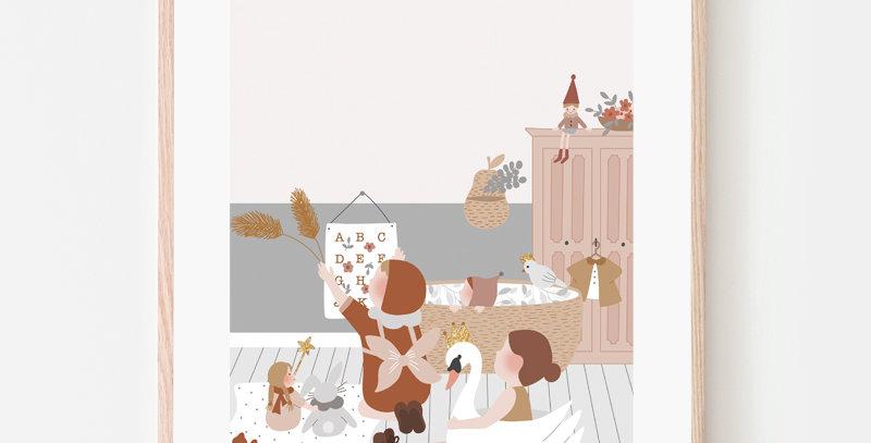 Affiche A4 - Poster A4 - Chambre d'enfant / R