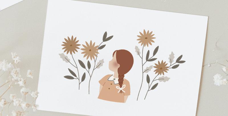 Carte postale - Post card - Champs de fleurs