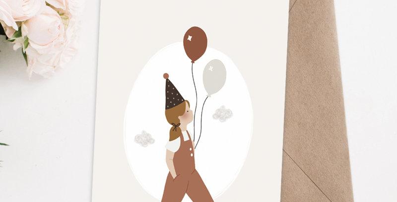 Carte postale - Post card - La petite fille au ballon