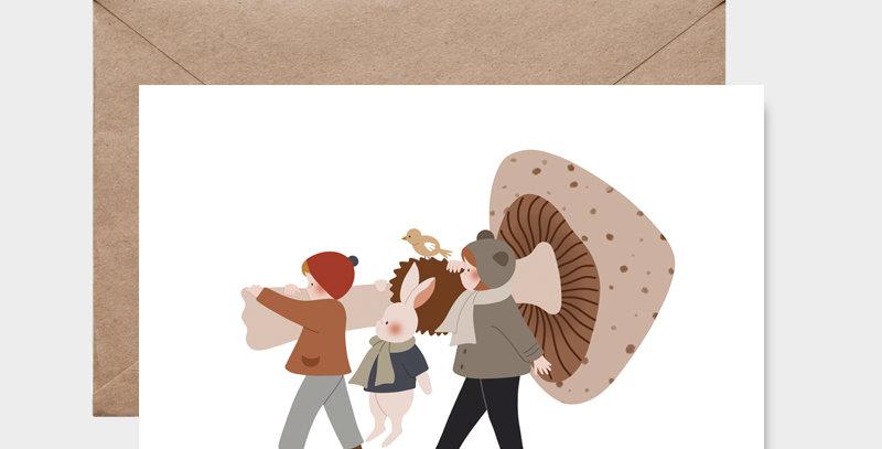 Carte postale - Postcard - Champignon géant