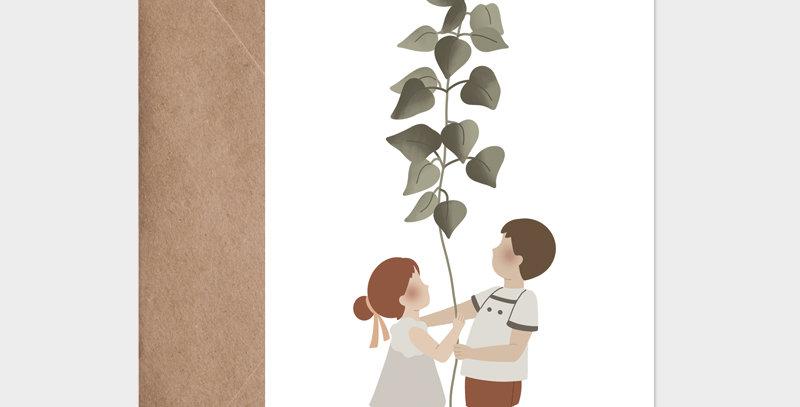 Carte postale - Postcard - La plante géante  / R