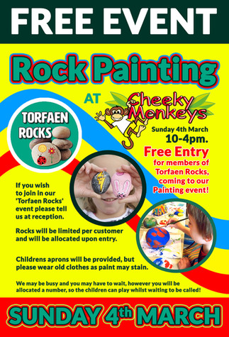 FREE EVENT Rock Painting At Cheeky Monkeys