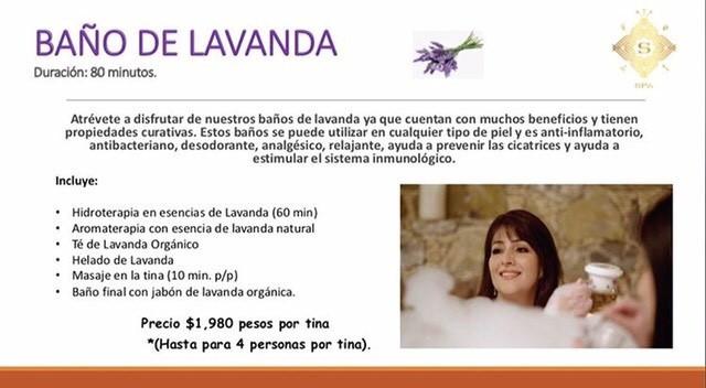 Baño de Lavanda $1,980.00