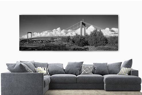 Älvsborgsbron monokrom panorama StorFormat