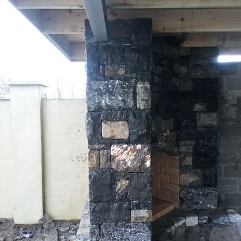 drystone fireplace