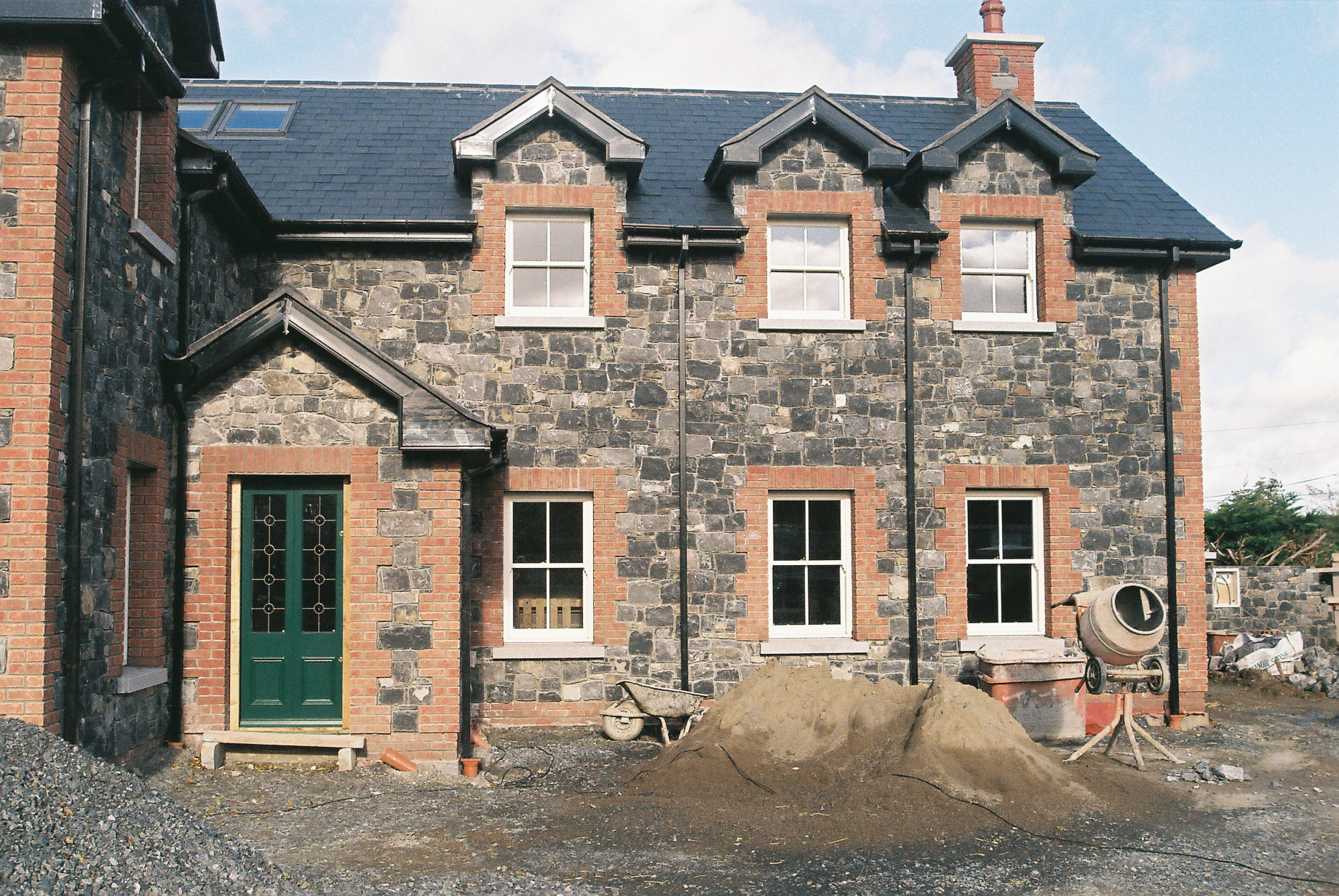Brick and stone house in Dublin