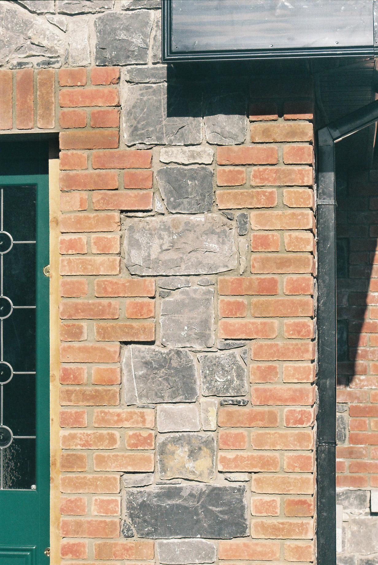 brickwork next to front door