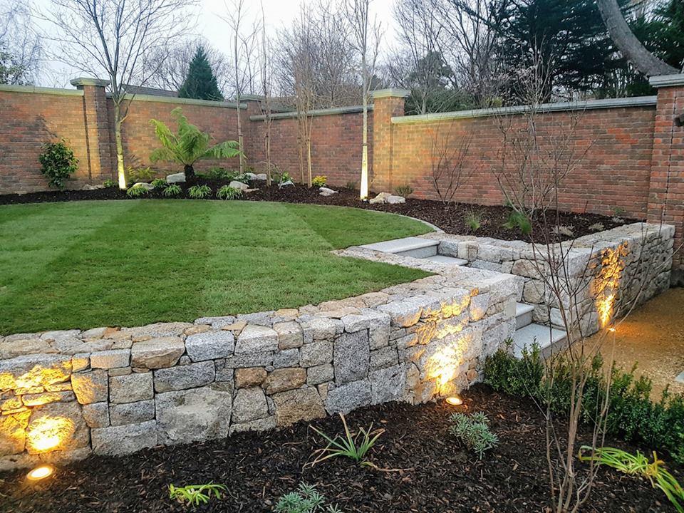 Granite wall Foxrock, Dublin 18