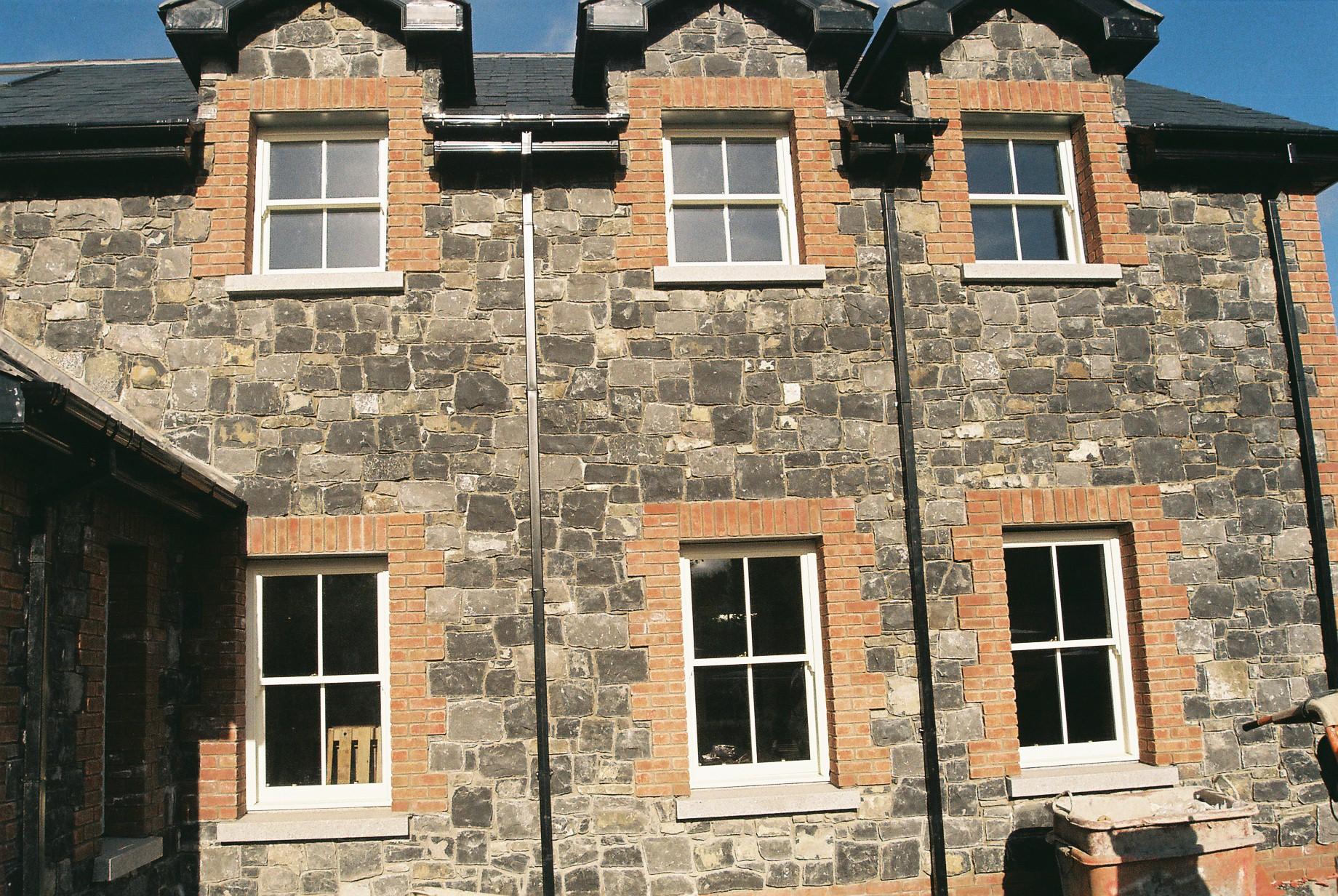 brick and limestone house