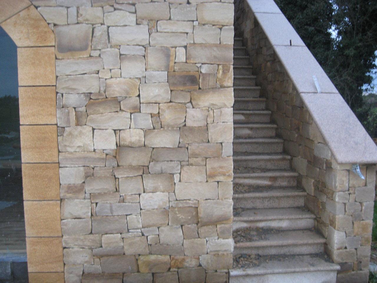sandstone building & granite steps