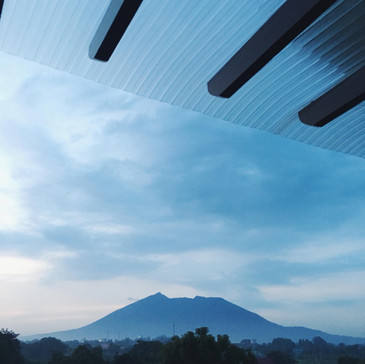 """Overlooking Mt. Arayat view from """"B"""" package rooms"""