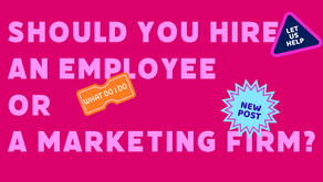 Should you hire a marketing firm or an employee?