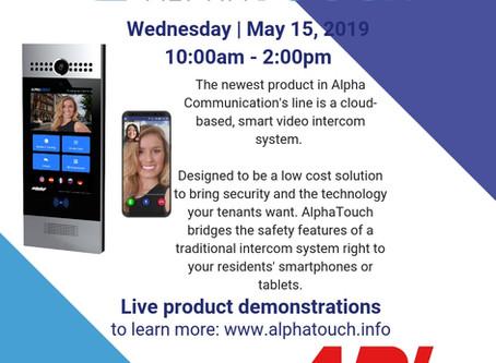 May 15 | AlphaTouch Demo @ ADI
