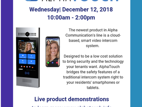 Dec 12th: AlphaTouch @ eDist Security
