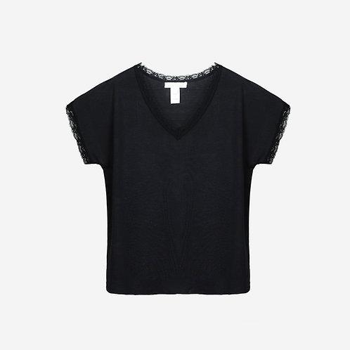 Milk Short Sleeve V-Neck W026