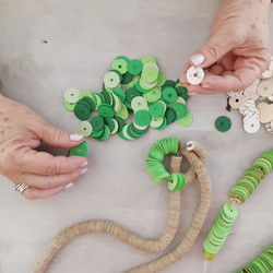 Preparing Recycled Paper Necklaces