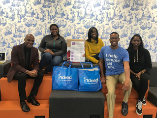 Indeed.com's Black Inclusion Group (B.I.G) contributes school supplies to the Daniel Trust Found