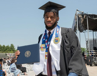 Award-winning athlete and SCSU Track & Field star Sachin Manning has obtained his Marketing degree