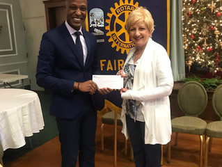 Fairfield Rotary Club awards a $1,450 grant to Daniel Trust Foundation in support of the Mentoring P