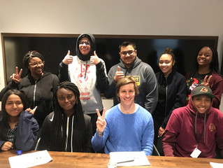 Jeb Gaybrick teaches students in Daniel Trust Foundation Mentoring Program in NYC about Saving and I