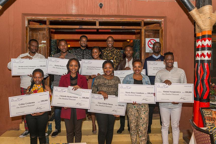 Daniel Trust with entrepreneurs in Rwand