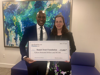 Berkowitz and Hanna has awarded Daniel Trust Foundation a $15,000 grant to support its Programs and