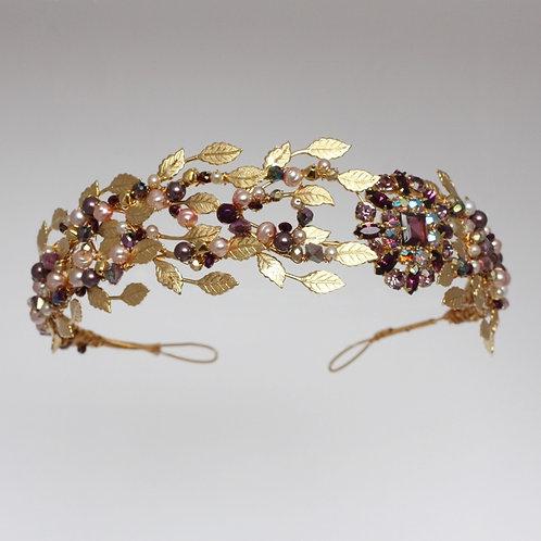 Gold Violet tiara
