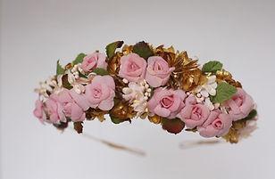 Handmade floral headdress