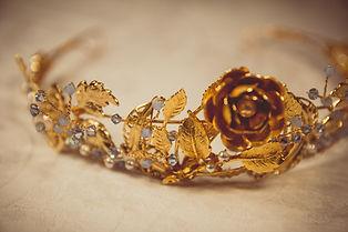 Gold handmade bridal tiaras