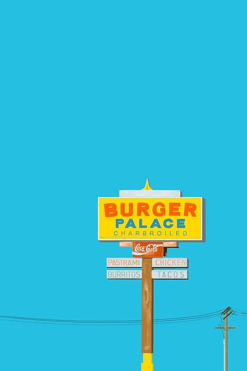 burger palace print