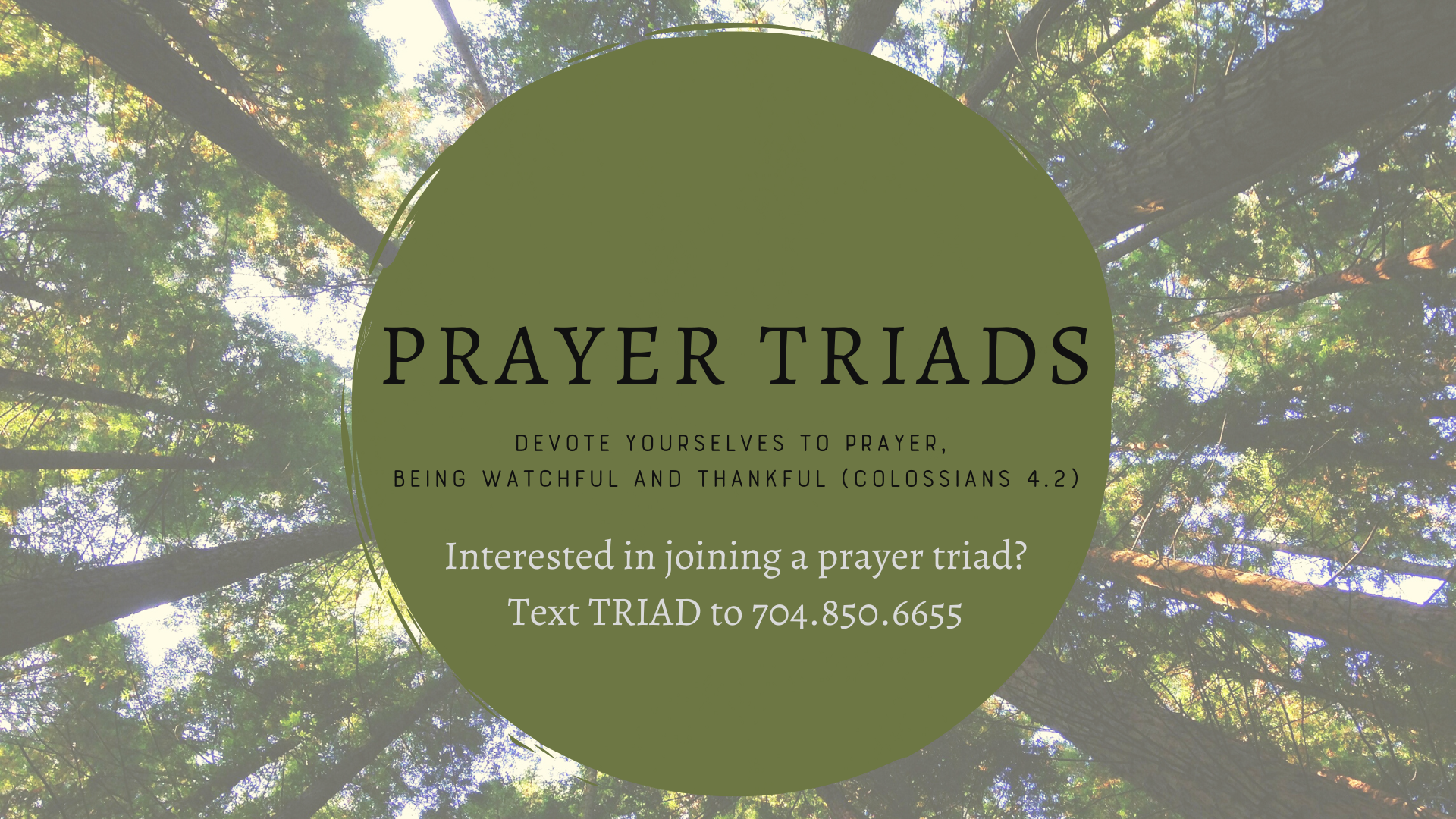 prayer triads