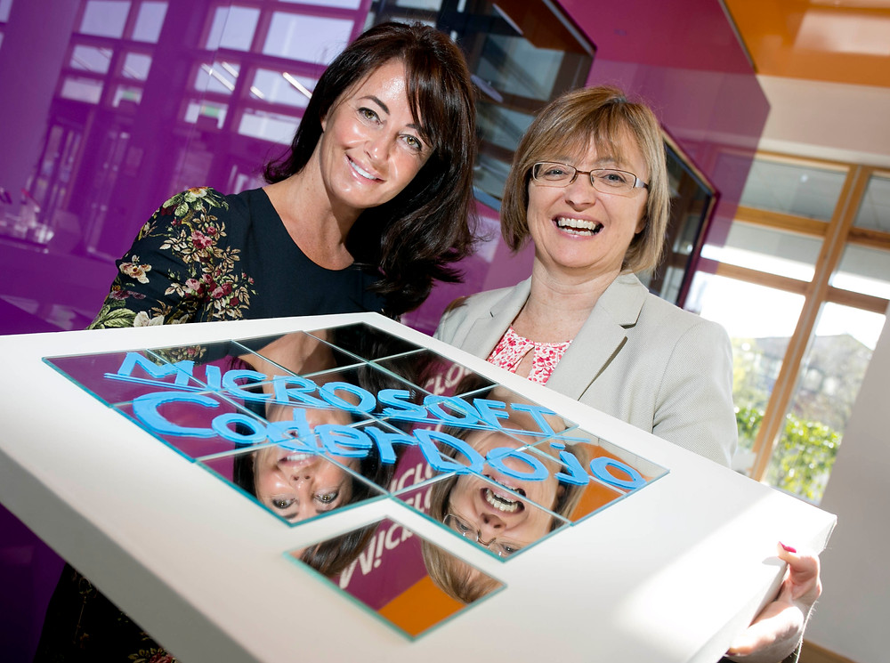 Cathriona Hallahan, MD, Microsoft Ireland and Mary Maloney, CEO, CoderDojo Foundation