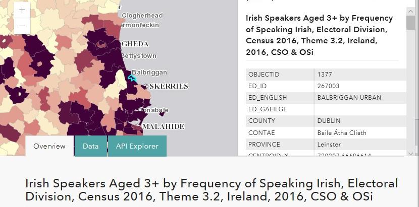 Visualise Census 2016 data on new OSI/CSO website using ESRI mapping technology