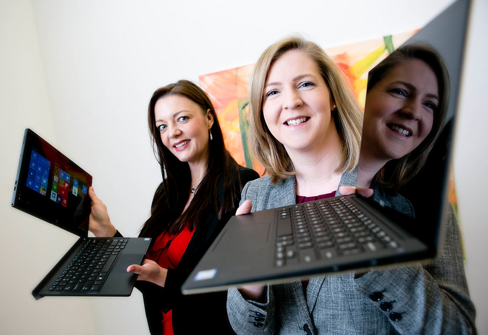 Niamh Townsend and Tara Gale of Dell Ireland