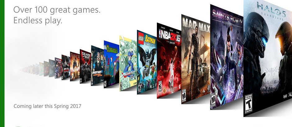 Xbox announce Netflix-style subscription Game Pass with 100+ games.
