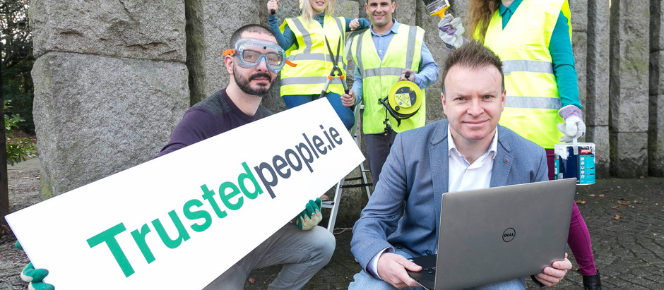 New Irish website TrustedPeople.ie – to match homeowners' needs to high-quality Tradespeople