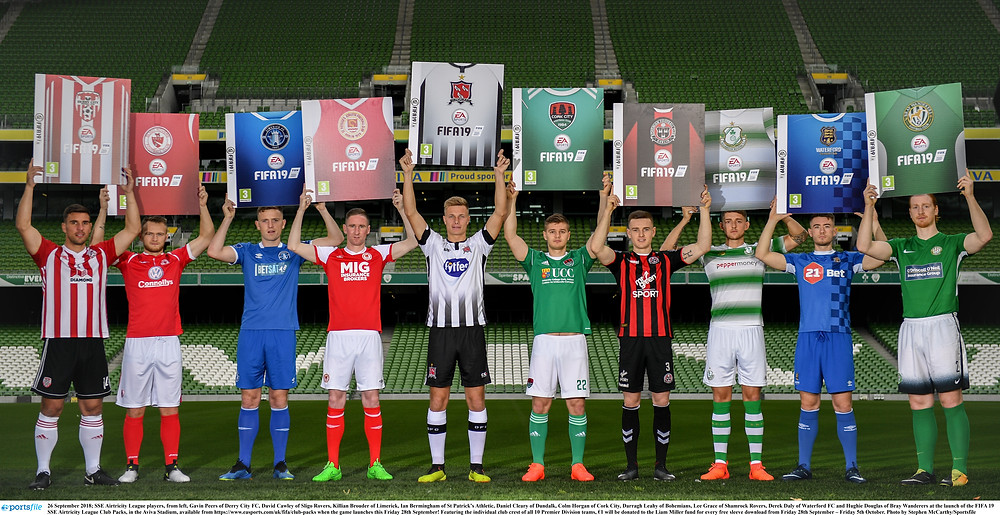 SSE Airtricity League FIFA 19 Club Packs are back, with €1 donated to the Liam Miller fund for every free sleeve download from now until Friday 5th October. Featuring the individual club crest of all 10 Premier Division teams, these sleeves are available from www.easports.com/uk/fifa/club-packs