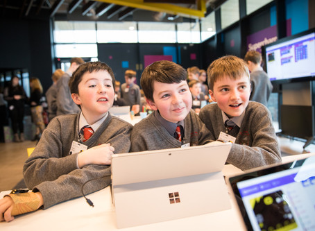Minister Richard Bruton joins Microsoft to celebrate 'Lift-Off' at DreamSpace