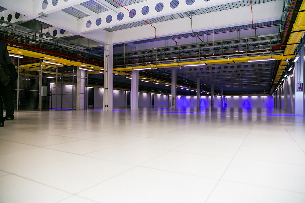 A lot of cloud can fit into Equinix's 86,000 square foot LD6 facility in Slough, England.