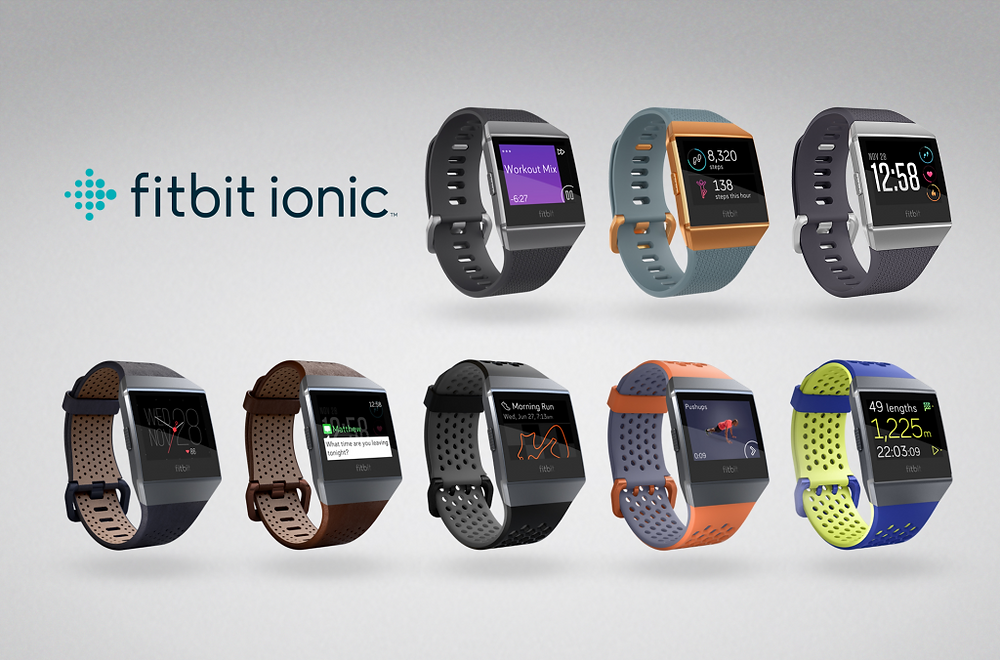 Fitbit Ionic comes in a variety of colours and bands
