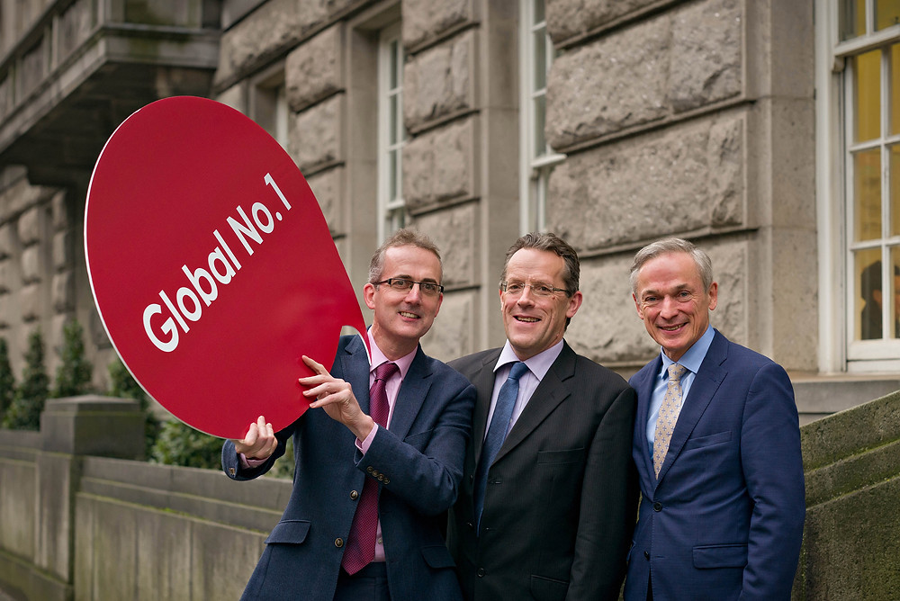 From L-R: Michael Culligan, business manager, Dublin BIC; David Varian, chairman, Guinness Enterprise Centre; and Minister Richard Bruton TD