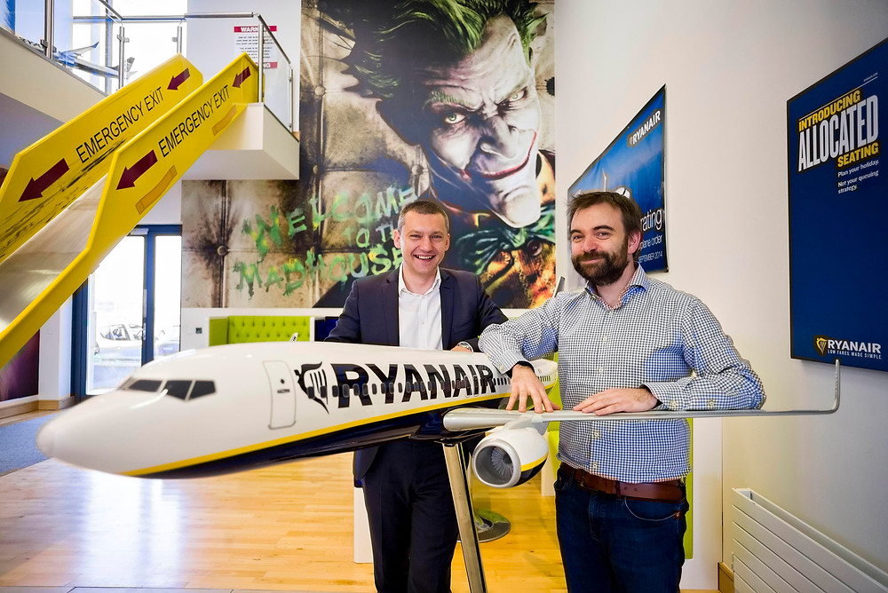 Comtrade will help Ryanair become a digital travel leader following major deal. Pictured (L-R) are: Dejan Ćušić, Solutions and Services Business Director, Ireland & UK, Comtrade; and John Hurley, CTO, Ryanair.