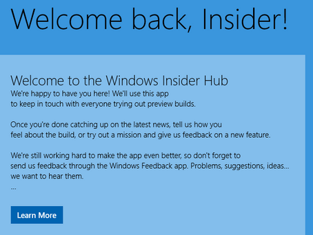 Windows Insider App to become key to Windows 10 secrets before launch