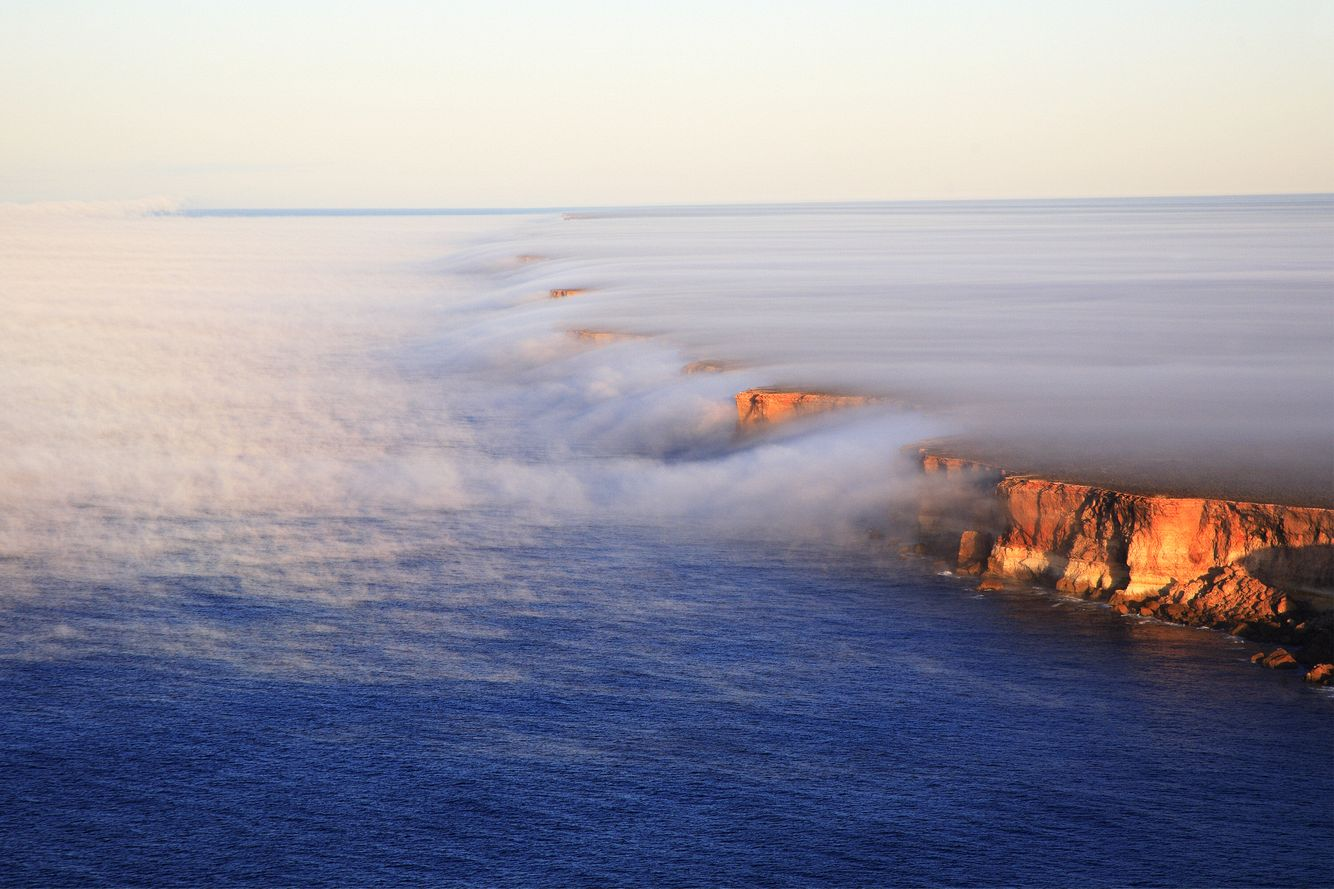 Fog over Nullarbor Cliffs
