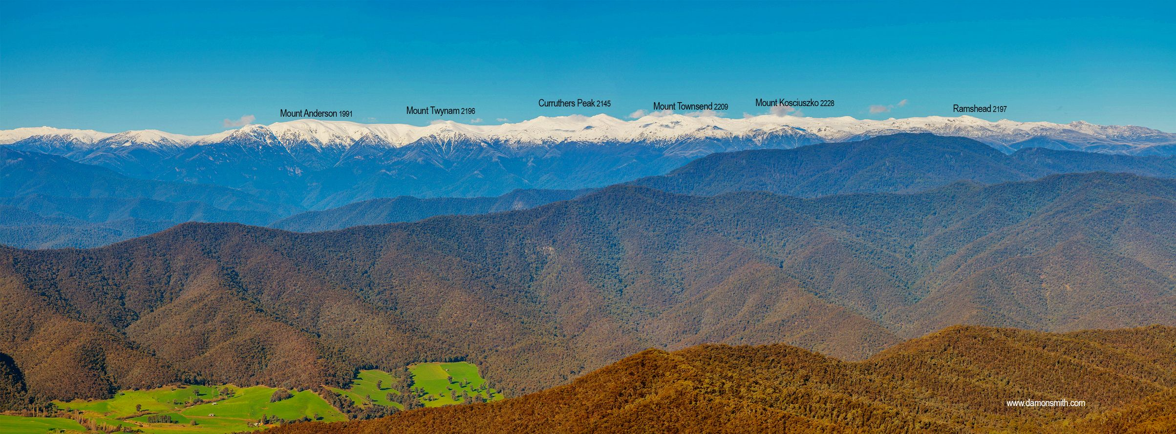 Snowy Mountains Panorama 1 -4596-97-98