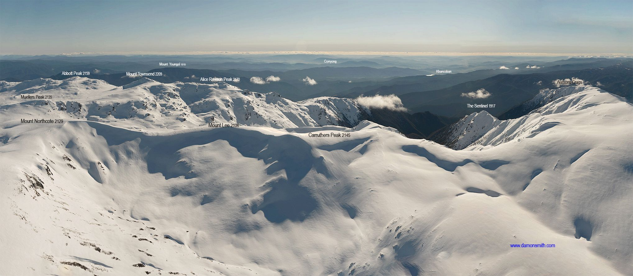Snowy Mountains Panorama 3 -4613-4625