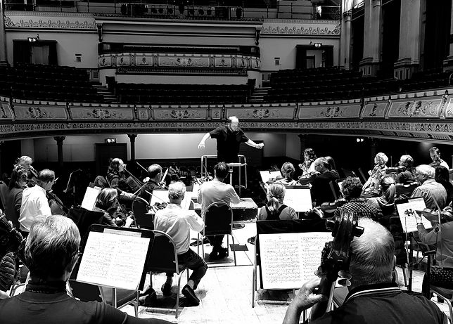 Slaithwaite Philharmonic. Benjamin Ellin. Rehearsal.