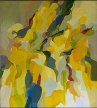 Sol Zaretsky, Biomorphic Yellow Square, Oil,  1963, 36 x 40,.jpg