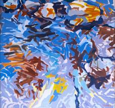 Sol Zaretsky, Flat Rock Creek Closeup, Acrylic,  2003, 34 x 36,.jpg